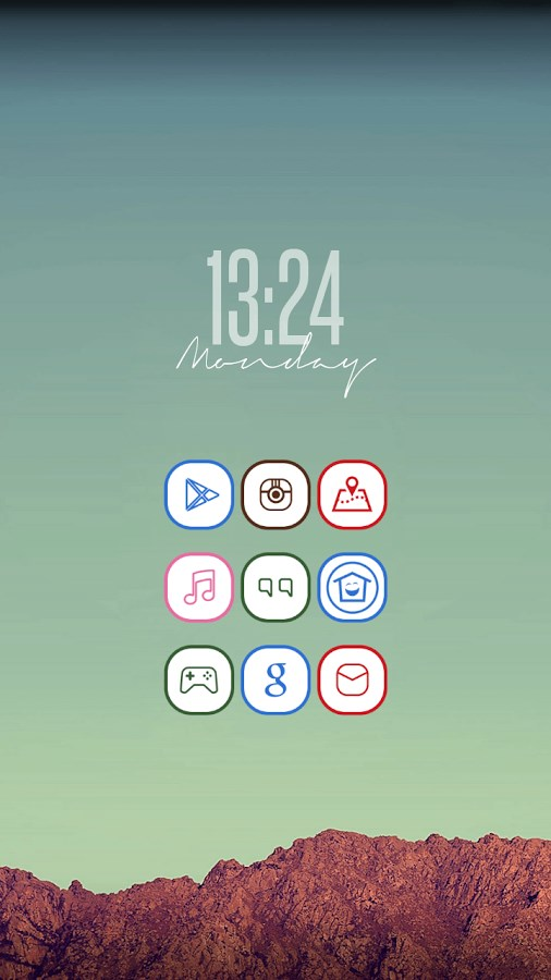 Colorful Lines Icon Pack - Imagem 1 do software