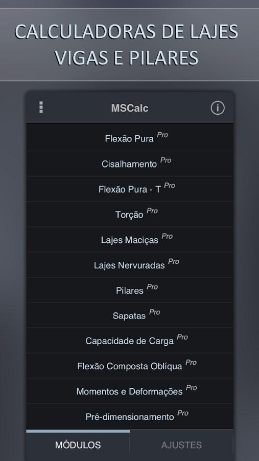 MSCalc 14 - Imagem 2 do software