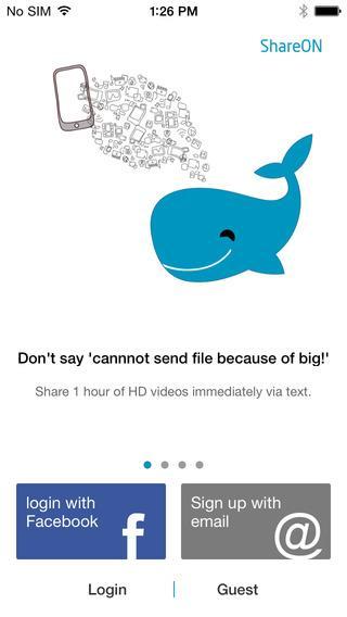 ShareON-large file sharing - Imagem 1 do software