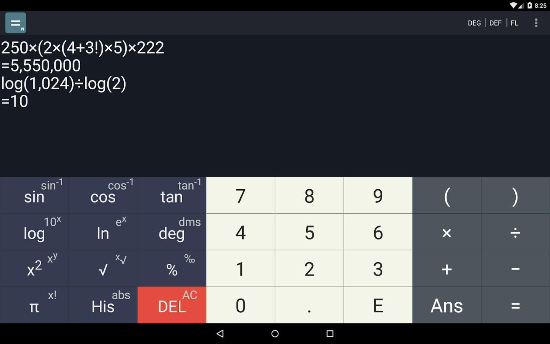 N Scientific Calculator - Imagem 1 do software