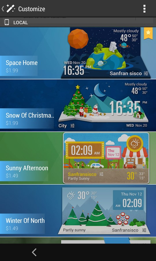 Material design weather widget - Imagem 2 do software