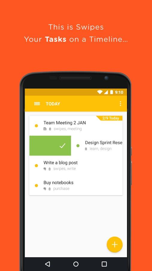Swipes - Plan Tasks - Imagem 1 do software