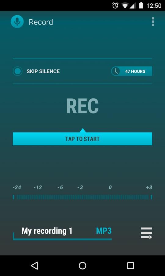 AudioField: MP3 Voice Recorder - Imagem 1 do software
