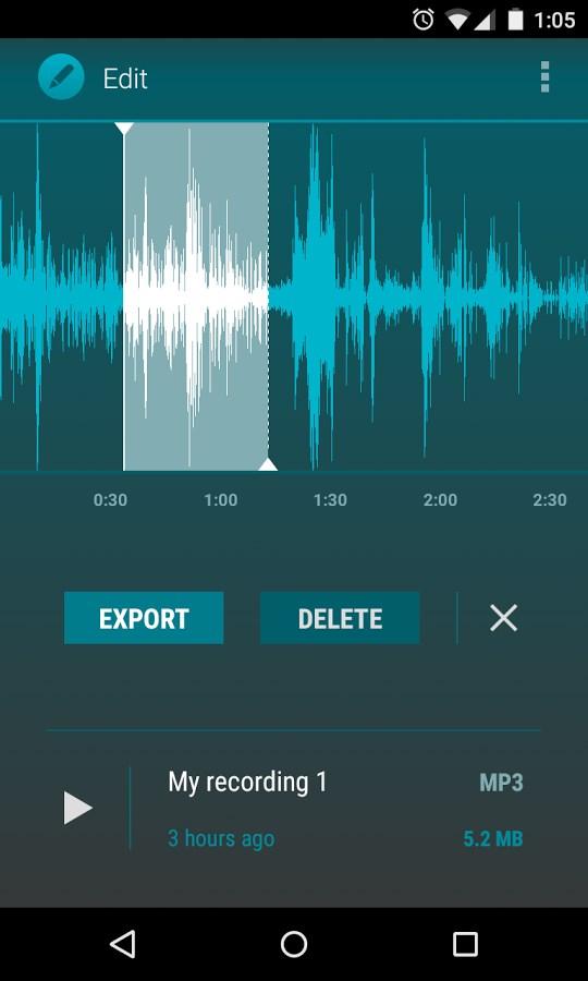 AudioField: MP3 Voice Recorder - Imagem 2 do software