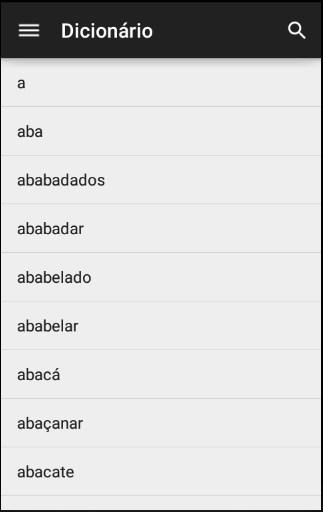 Dicionário Língua Portuguesa - Imagem 1 do software