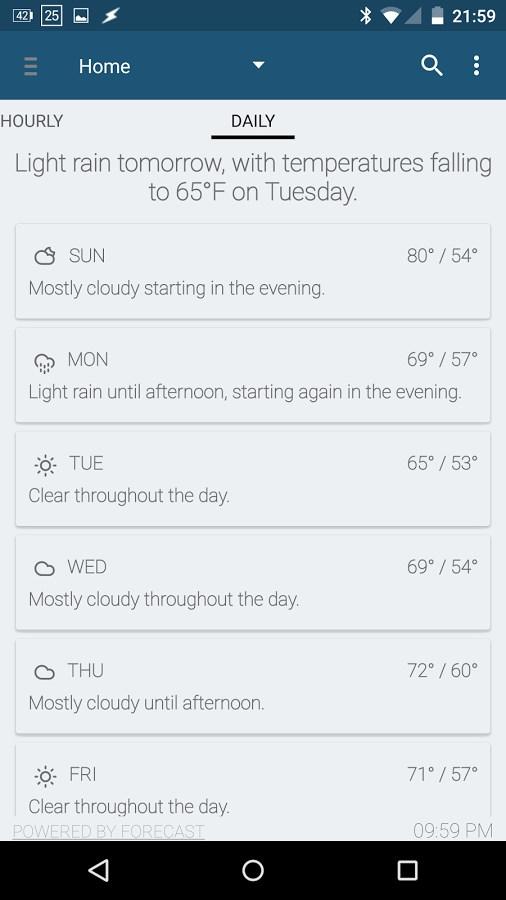 Arcus Weather - Imagem 2 do software