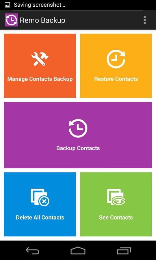 Remo Backup FREE - Imagem 1 do software