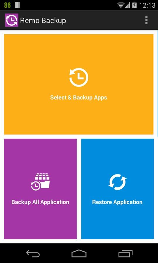 Remo Backup FREE - Imagem 2 do software