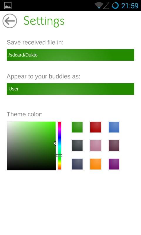 Dukto - Imagem 2 do software
