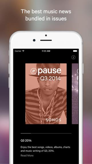 Pause - Curated music stories - Imagem 1 do software