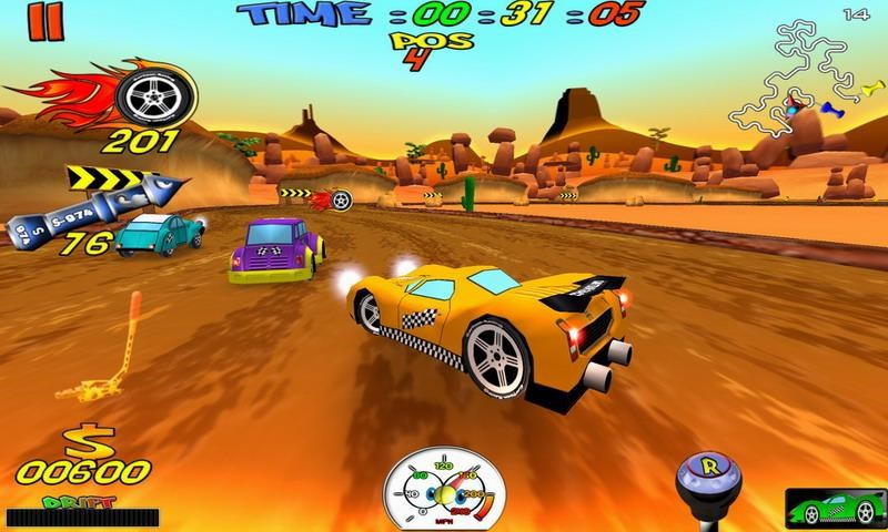 Cartoon Racing Free - Imagem 1 do software