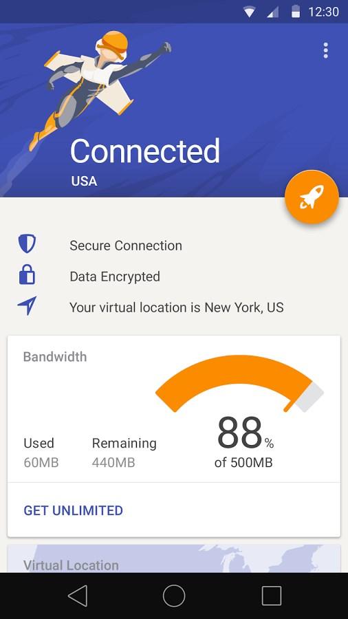 Rocket VPN - Internet Freedom - Imagem 1 do software