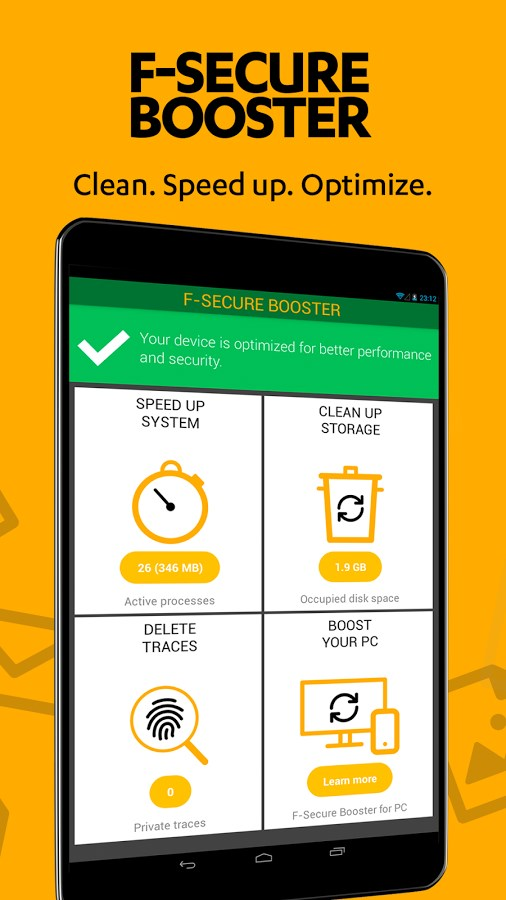 F-Secure Booster - Imagem 2 do software