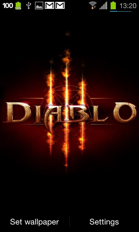 Diablo 3 Fire Live Wallpaper - Imagem 1 do software