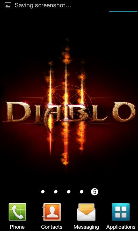 Diablo 3 Fire Live Wallpaper - Imagem 2 do software