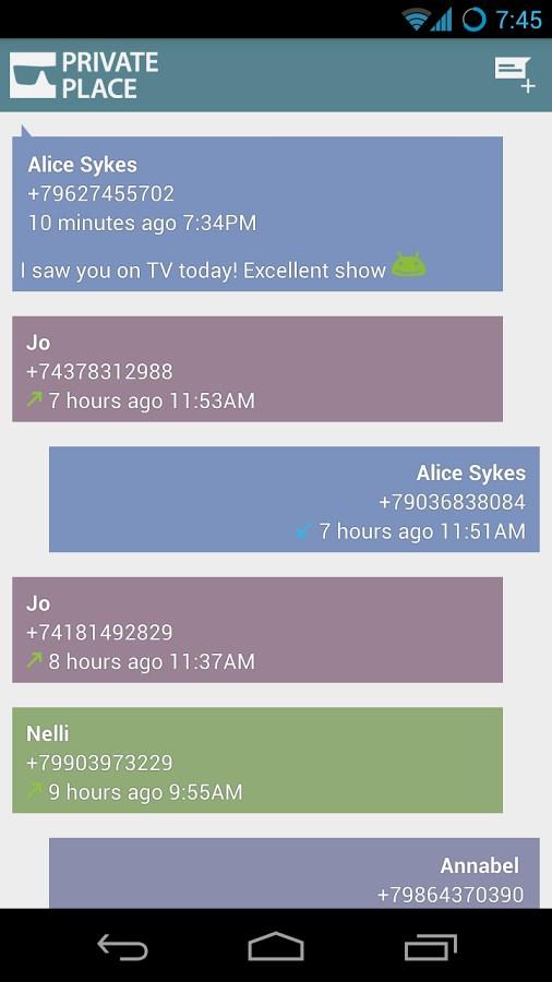 Private Place Secret SMS CALLS - Imagem 1 do software