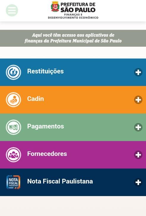 FINANÇAS PMSP - Imagem 1 do software
