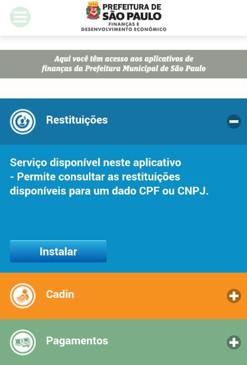 FINANÇAS PMSP - Imagem 2 do software
