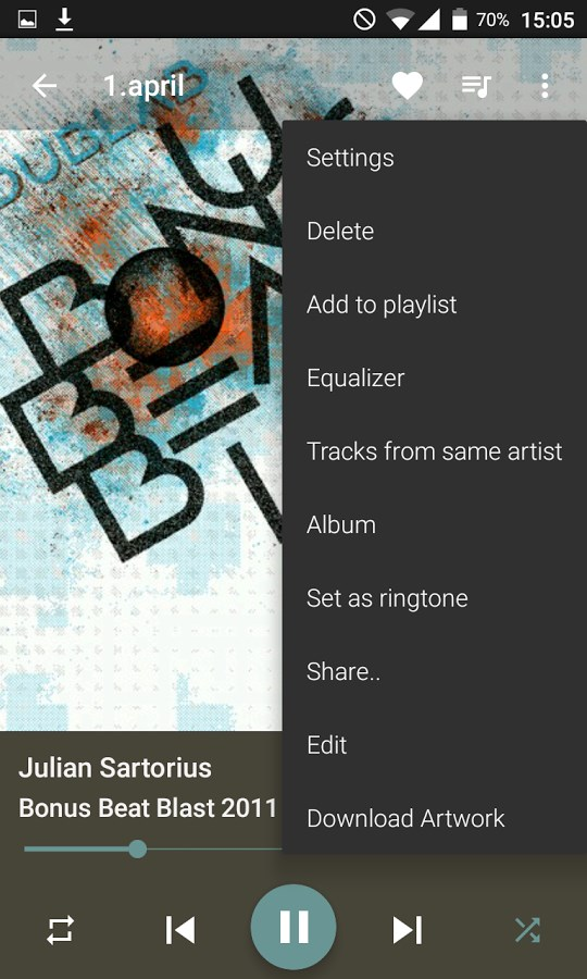 Pixel Player Pro Music Player - Imagem 2 do software