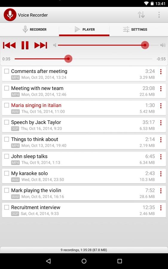 Gravador de Voz - Imagem 2 do software