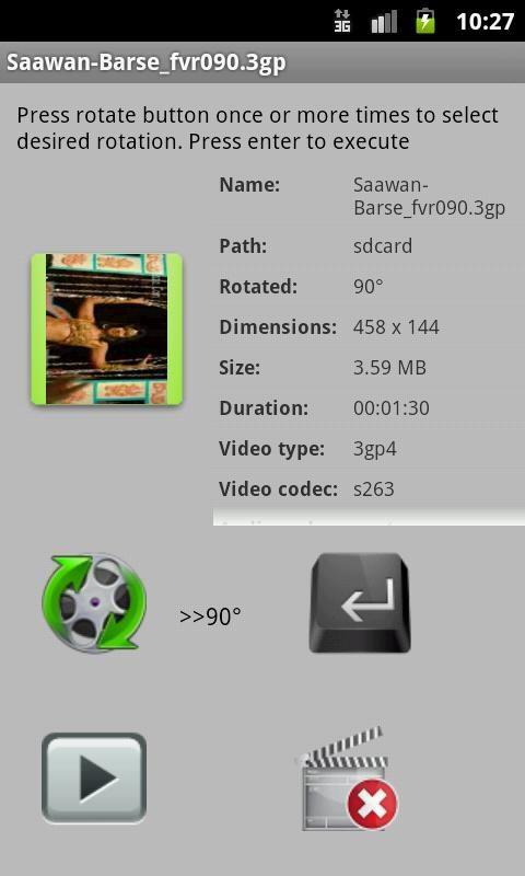 Fast Video Rotate Trial - Imagem 2 do software