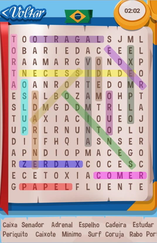 Caça-Palavras Brasileiro PT BR - Imagem 1 do software