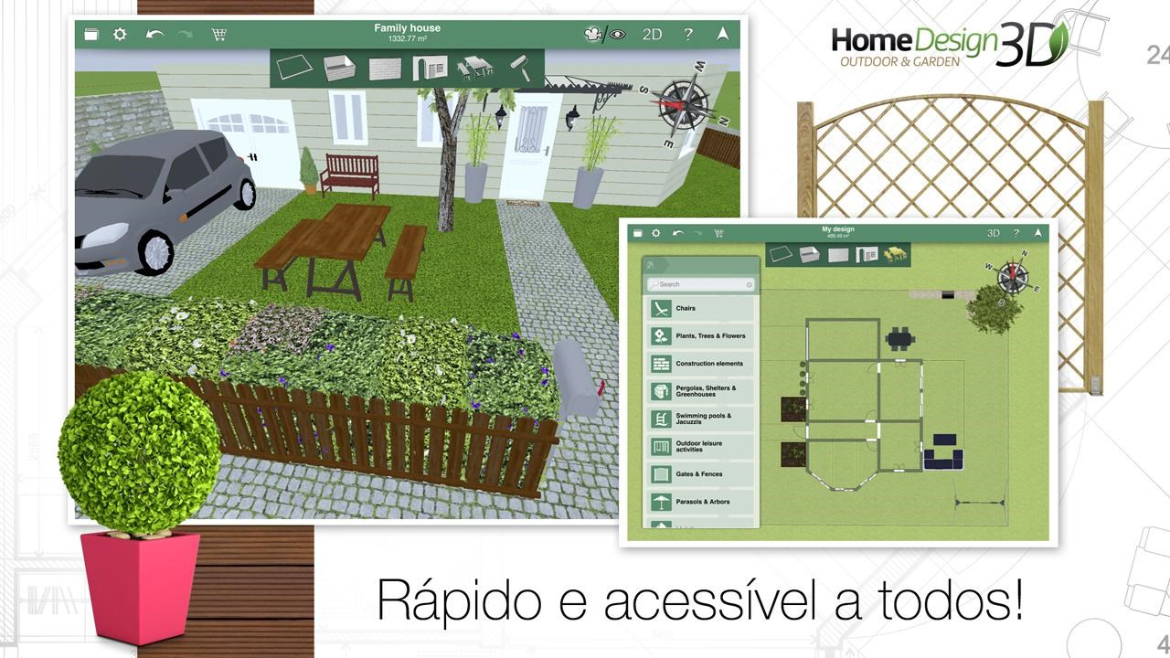 Home Design 3D Outdoor/Garden   Imagem 1 Do Software