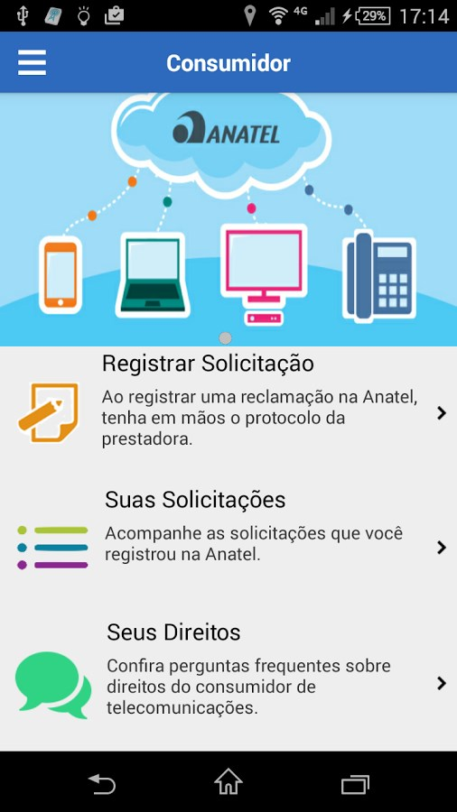 Anatel Consumidor - Imagem 1 do software