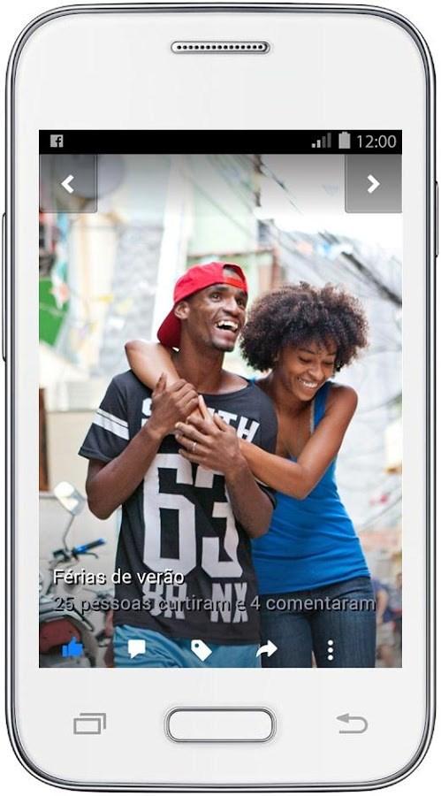 interface de facebook lite mostrando um perfil de usuário