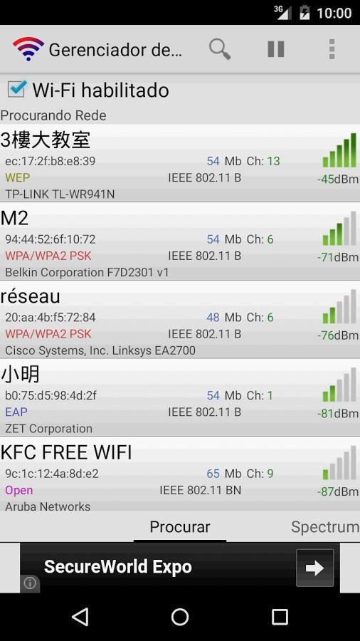 Gerenciador de conexões Wi-Fi - Imagem 1 do software