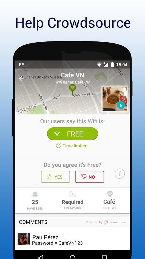 WifiMapper - Free Wifi Map - Imagem 2 do software