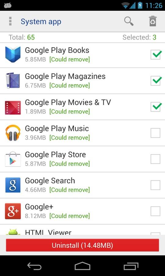 System app remover pro - Imagem 1 do software