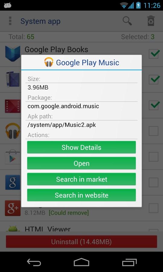 System app remover pro - Imagem 2 do software
