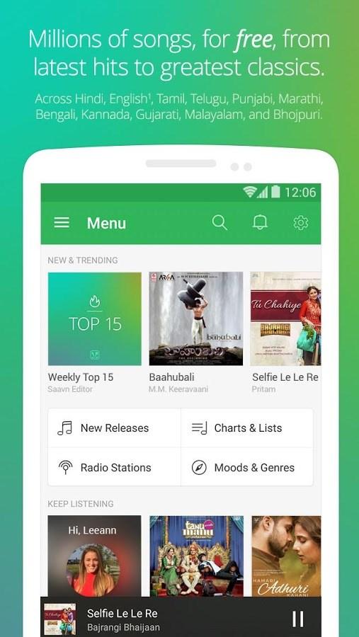 Saavn Music & Radio - Imagem 1 do software