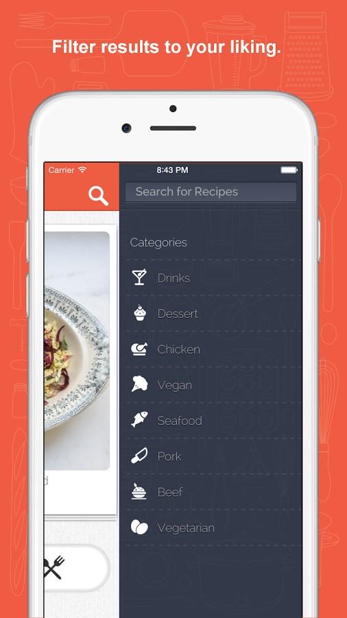 Tender - Food and Recipes - Imagem 3 do software