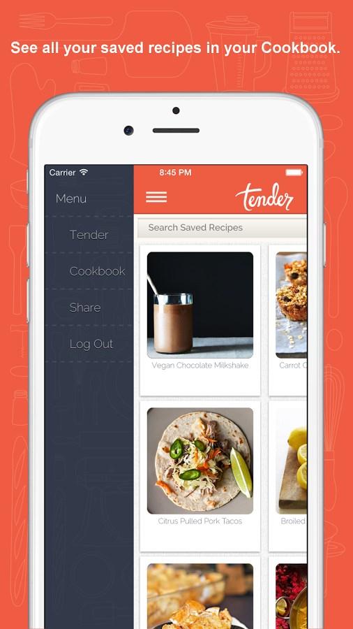 Tender - Food and Recipes - Imagem 4 do software