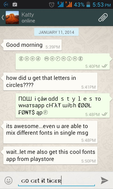 cool fonts for whatsapp  u0026 sms download