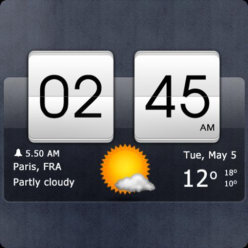 Logo Sense flip clock & weather ícone