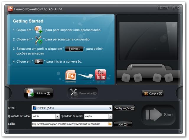Leawo PowerPoint to YouTube Converter - Imagem 1 do software