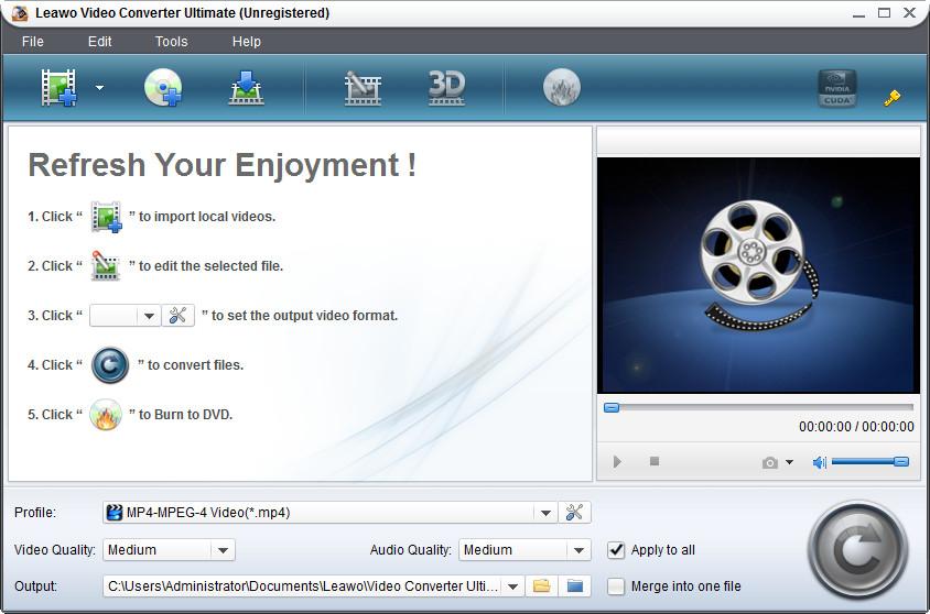 Leawo Video Converter Ultimate - Imagem 1 do software
