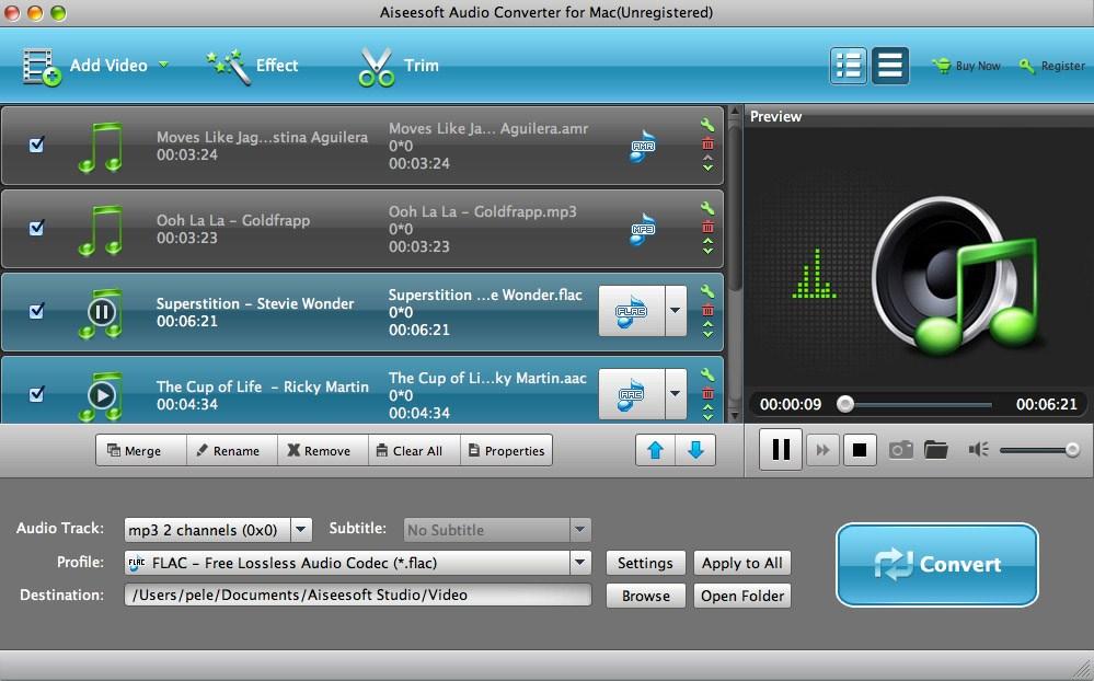 Aiseesoft FLAC Converter for Mac - Imagem 1 do software