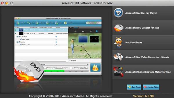 Aiseesoft BD Software Toolkit for Mac - Imagem 1 do software