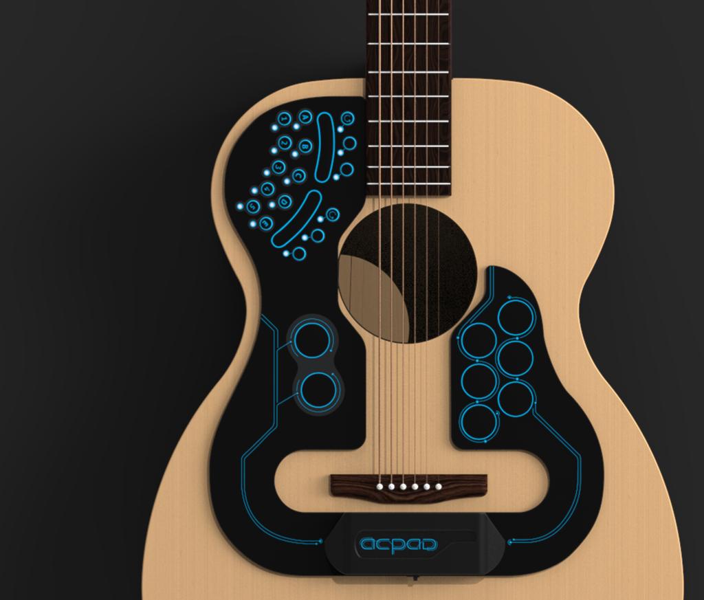 Artesanato Feltro Passo A Passo ~ ACPAD adesivo inteligente transforma viol u00e3o acústico em banda completa TecMundo