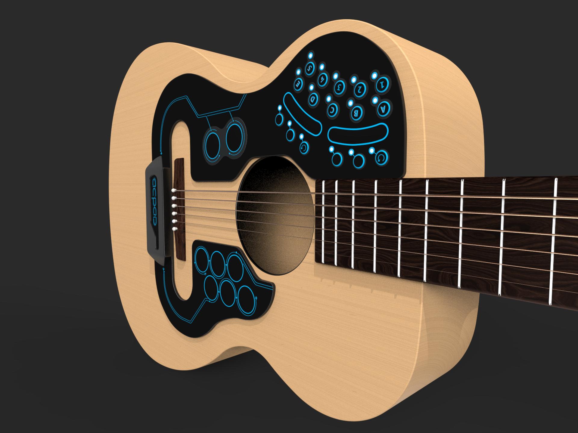 Artesanato Feltro Passo A Passo ~ ACPAD adesivo inteligente transforma viol u00e3o acústico em banda completa TecM
