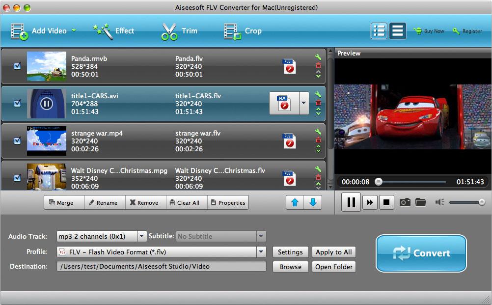 Aiseesoft FLV to MP3 Converter for Mac - Imagem 1 do software