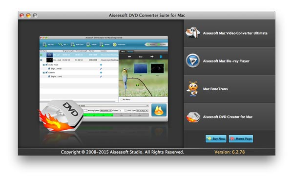 Aiseesoft DVD Converter Suite for Mac - Imagem 1 do software
