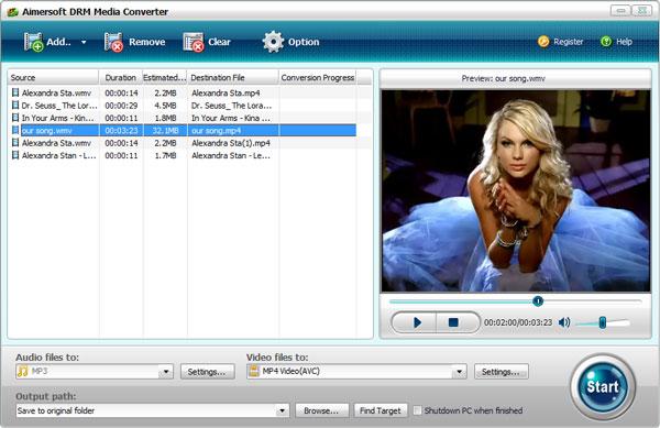 Aimersoft DRM Media Converter - Imagem 1 do software