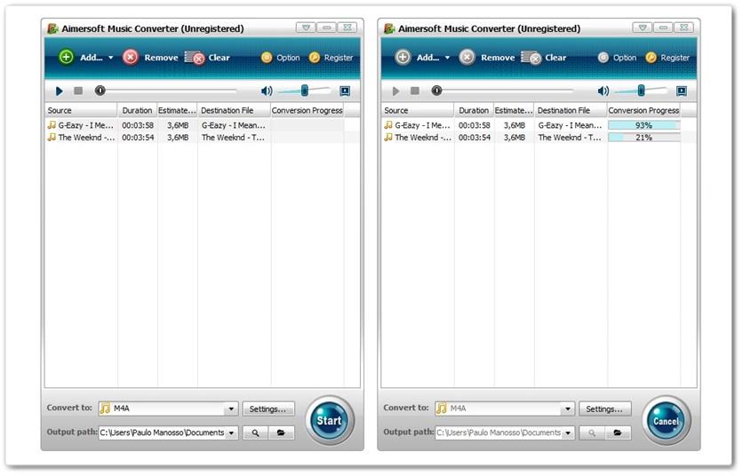 Aimersoft Music Converter - Imagem 1 do software