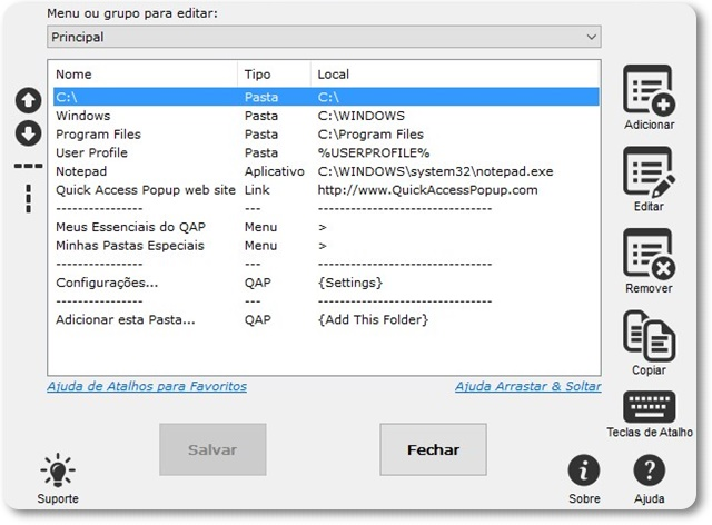 Quick Access Popup - Imagem 2 do software