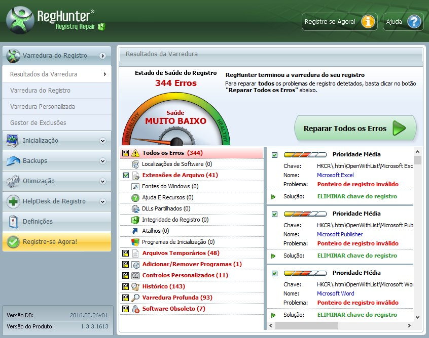 RegHunter - Imagem 1 do software